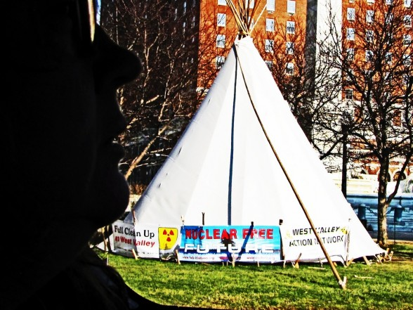 tipi at occupy buffalo