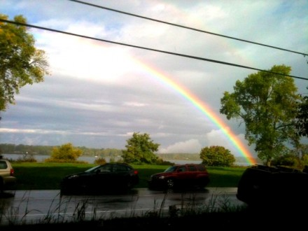 rainbow at cottage