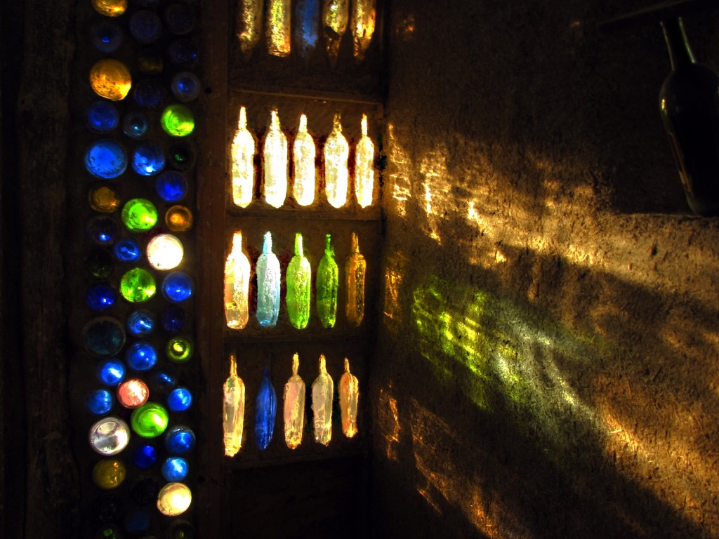 cut bottle wall