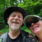 jon and cathy on the trail