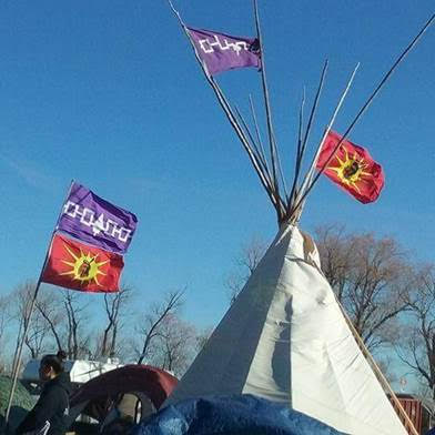 our tipi at standing rock